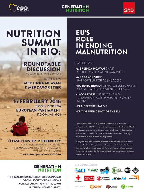 Generation Nutrition Europe event invitation