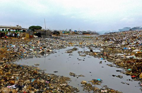 Odaw River Pollution in Accra