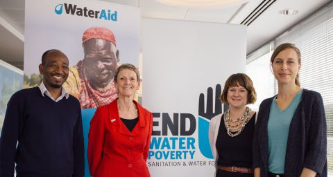 EWP secretariat with WaterAid CEO