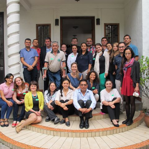 Group photo of civil society representatives from Latin America