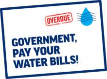 Government Pay Your Water Bills Campaign Logo